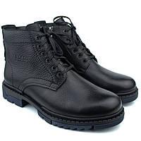 Зимние ботинки ручной работы мужская обувь из натуральной кожи Rosso Avangard Hand Made Ultimate Bluish 40, 27, Натуральный мех