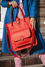 Сумка шоппер MEGAN червоного кольору від UDLER