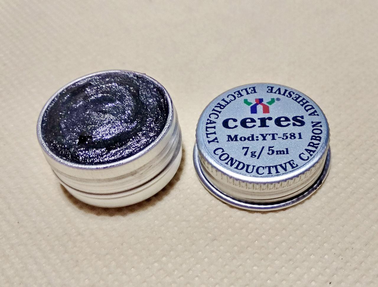 Токопроводящий клей CERES 7г графитовый электропроводящая токопроводящая краска (HM-010-07)