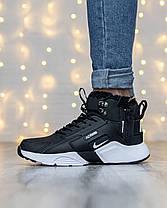 Мужские зимние кроссовки в стиле Nike Huarache x Acronym с мехом, фото 2