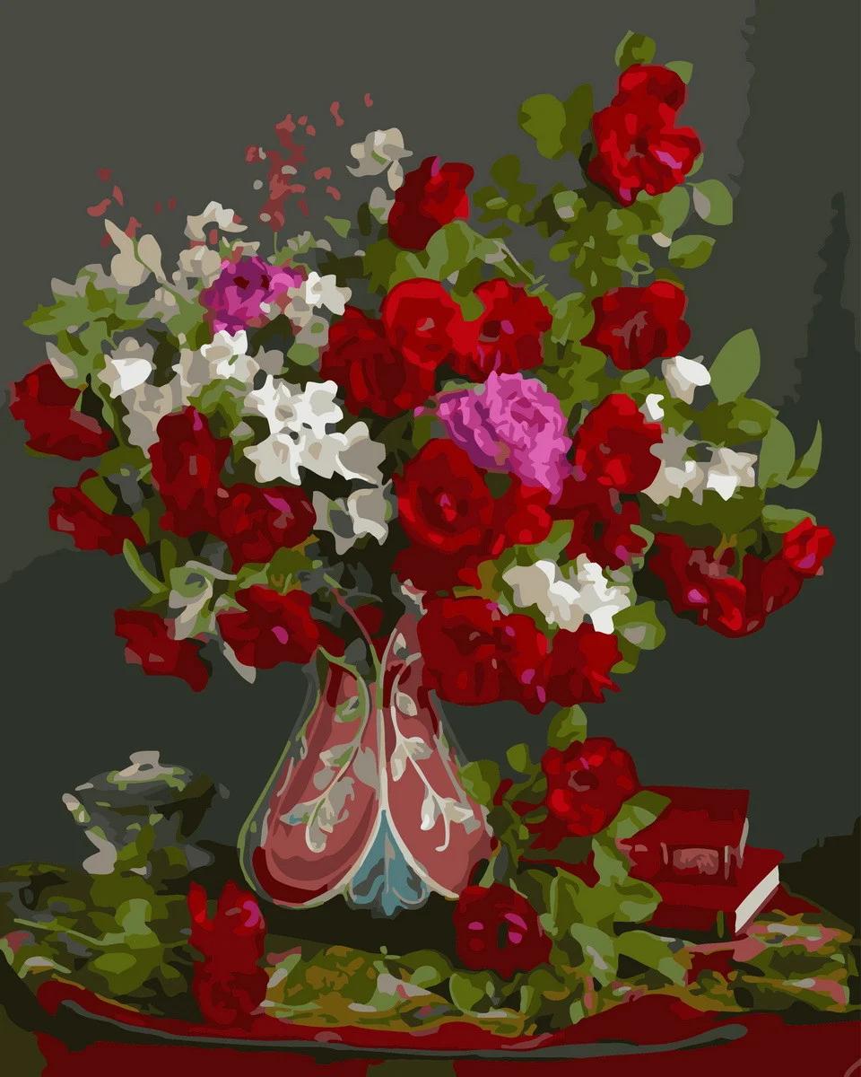 Картина по номерам Цветочный натюрморт GX32954 Rainbow Art 40 х 50 см (без коробки)