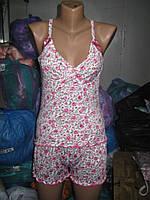Пижама женская майка и шорты Бамбук Украина Бантики