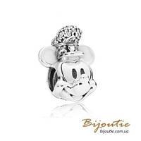 Срібний Шарм Пандора Disney МІККІ КАПІТАН #797499CZ, фото 1