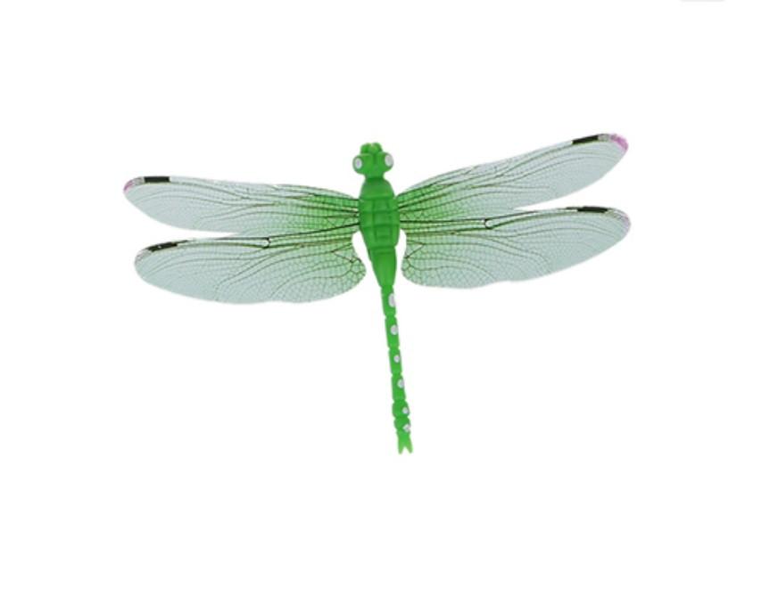 Декор пластиковая Стрекоза на магните, цвет зеленый