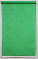 Готовые рулонные шторы Ткань Агат Зелёный 1450*1500