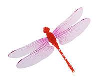 Декор пластиковая Стрекоза на магните, цвет красный, фото 1