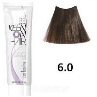 Крем краска для волос без аммиака  KEEN Velvet Colour 6.0 темный блондин 100мл.