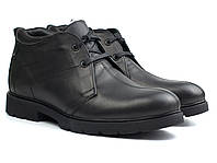 Классические зимние ботинки кожаные черные дезерты мужская обувь на меху Rosso Avangard Carlo Pa20