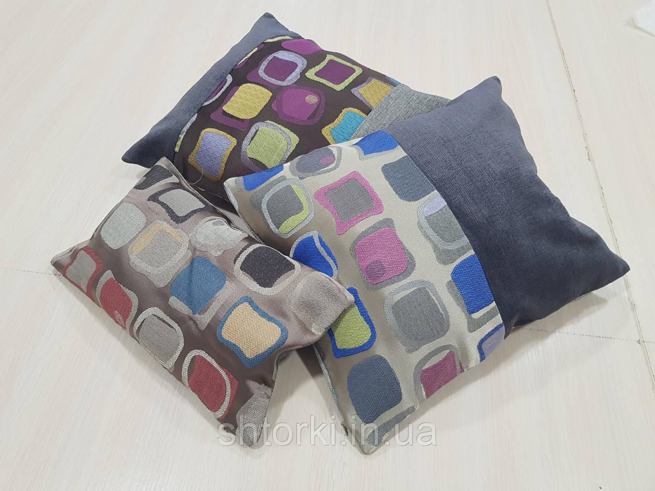 Комплект подушок квадрати різні, 3шт