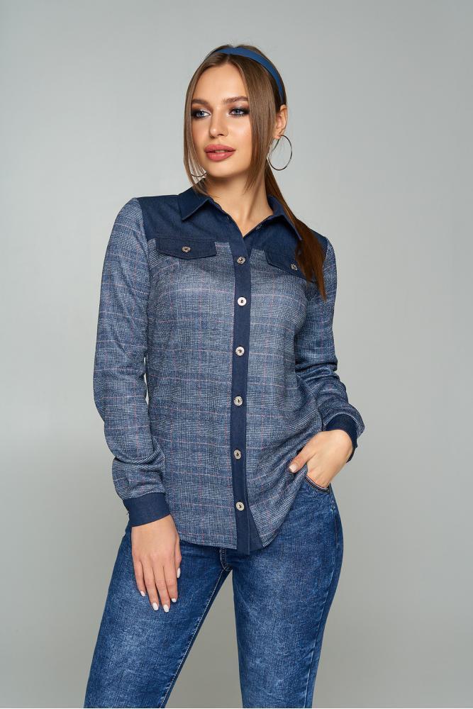 """Рубашка """"AZ-223"""" (темно-синий) S; M; L; 2XL"""