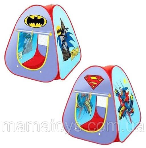 Палатка Детская 889-33A/35A Spiderman / Batman 2 вида в сумке Размер 90 х 80 х 80 см