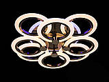 Светодиодная люстра с диммером и LED подсветкой, цвет чёрный хром, 110W, фото 3