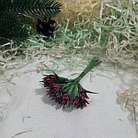 Тычинки для цветов Острые бордовые