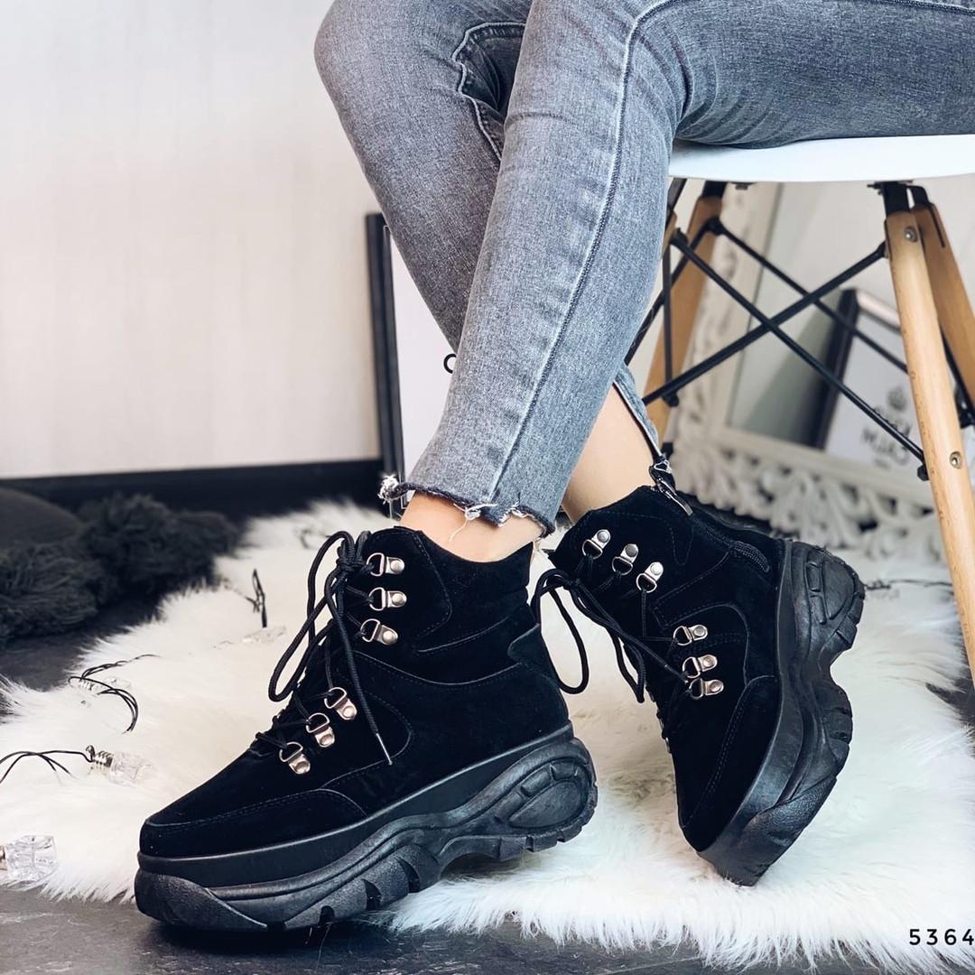 Ботинки демисезонные замшевые