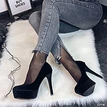 Велюровые туфли женские, фото 3