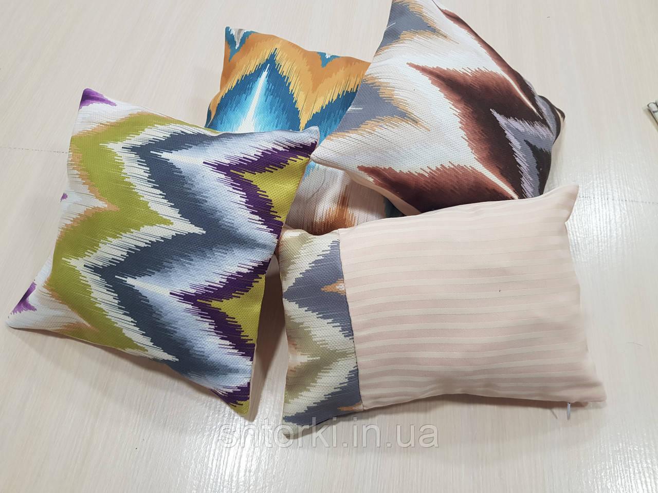 Комплект подушок Абстракція зигзаги, 4шт