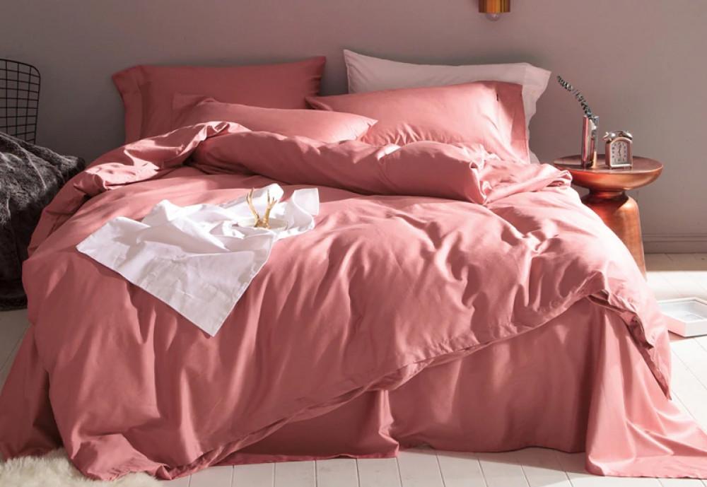 Постельное белье Сатин однотонный TEZ ROSE, №132 ТМ Комфорт-текстиль (Евро)