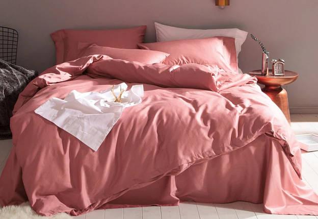 Постельное белье Сатин однотонный TEZ ROSE, №132 ТМ Комфорт-текстиль (Евро), фото 2