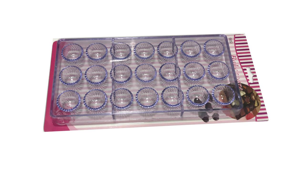 Форма для шоколаду полікарбонат Сфера ажурна 24 шт