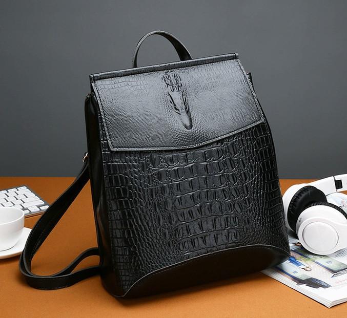 Модный женский рюкзак сумка Крокодил