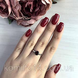 Серебряное кольцо с натуральным гранатом, фото 2