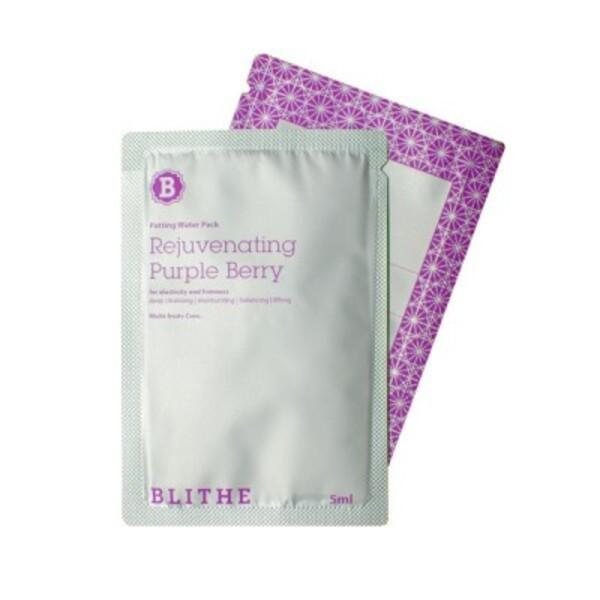 Омолаживающая сплэш-маска Blithe Patting Splash Mask Purple Berry Пробник 5 мл Корея