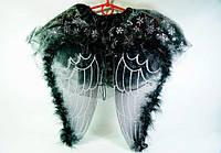 """Карнавальный детский костюм """"Черный Ангел"""" 2 предмета в наборе, детский образ ангела"""