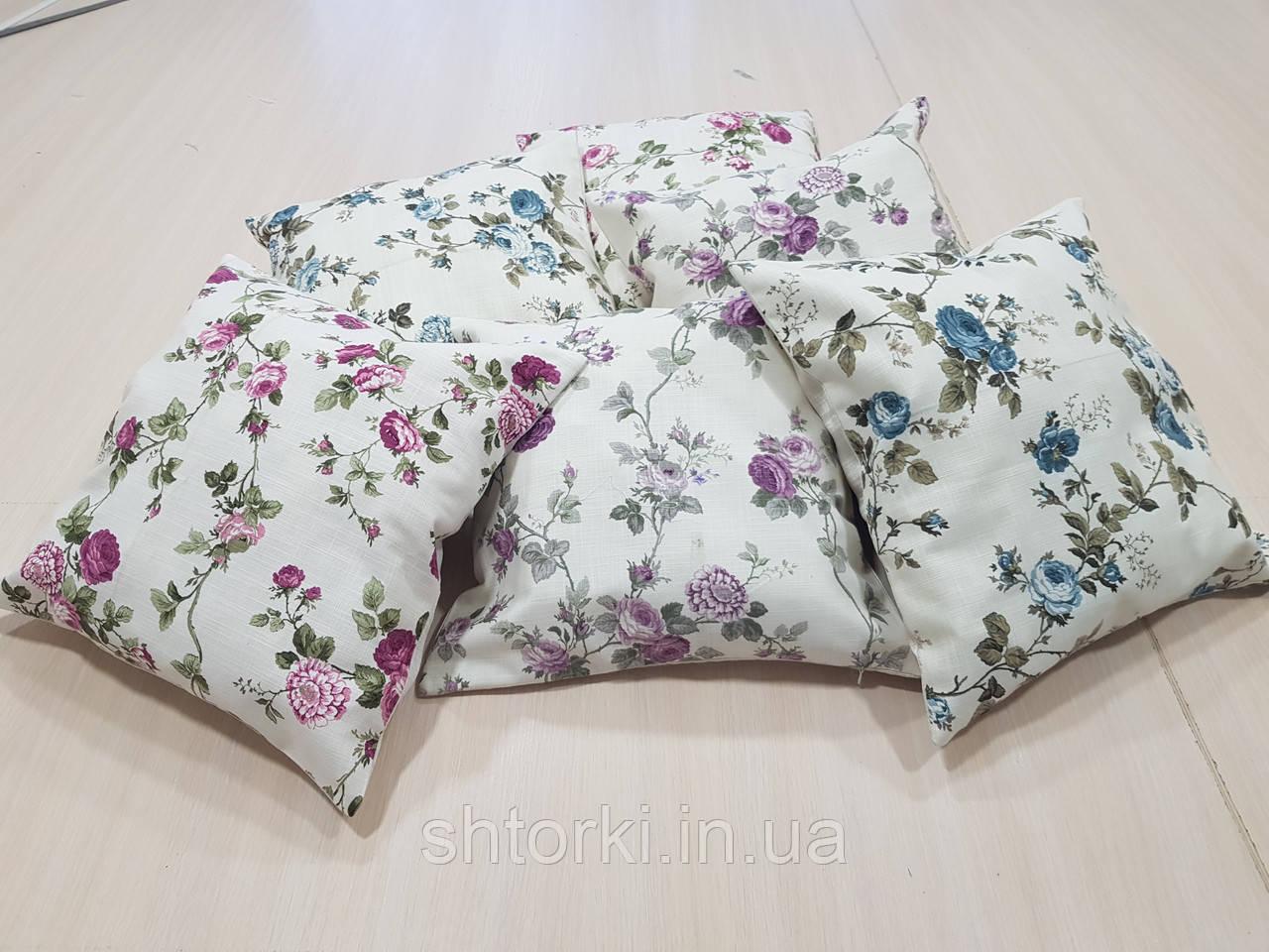 Комплект подушок Трояндочки різні , 6шт