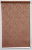 Готовые рулонные шторы Ткань Агат Какао 425*1500