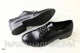 Женские туфли кожаные черные, 40