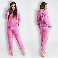 Женская махровая  пижама с ушками