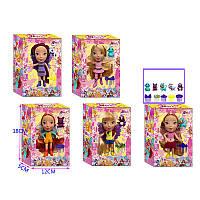 Кукла 5 видов,  с аксессуар, в кор 12*18*5см /120-2/ (MFQ9412)