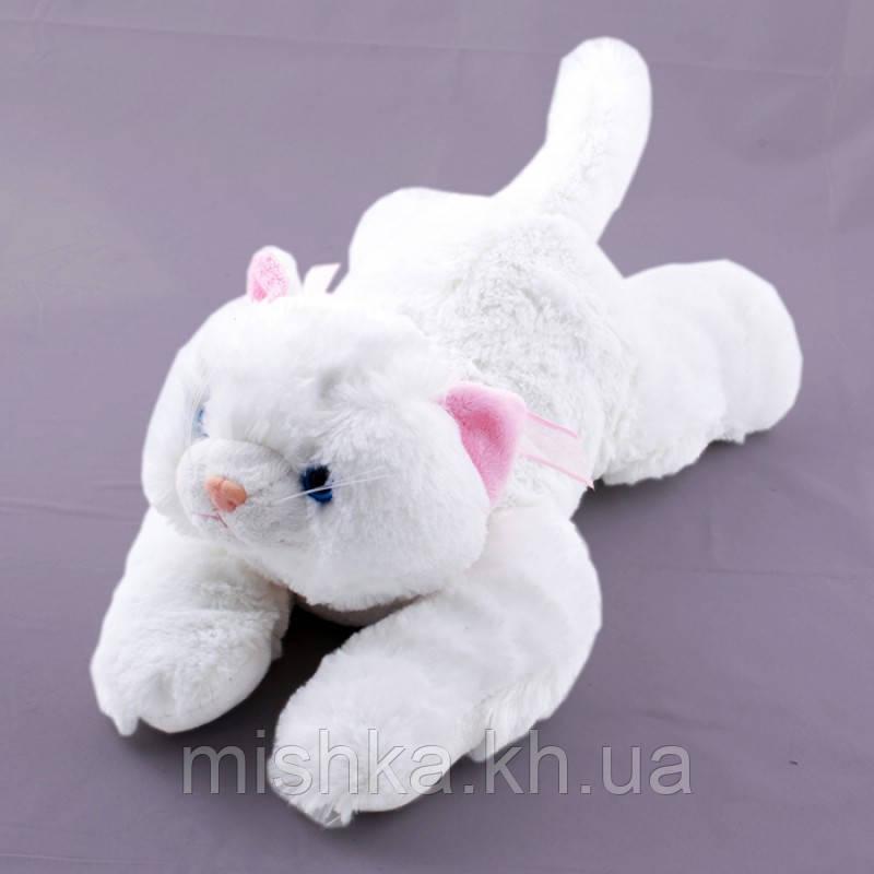 Мягкая игрушка озвученая Кот белый пушистый33см  №4