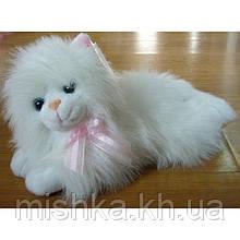Мягкая игрушка озвученая Кот пушистый лежит №2400-26