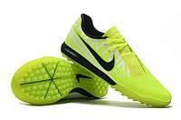 Футбольные сороконожки Nike Zoom Phantom VNM Pro TF Volt/White/Obsidian, фото 1