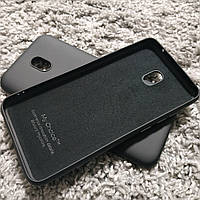 Силиконовый матовый чехол с микрофиброй для Xiaomi Redmi 8a черный