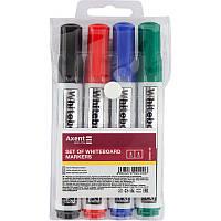 Набор маркеров для досок Axent Whiteboard 2 мм круглый 4 цвета (D2800-40)