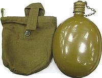 Фляга армейская производство СССР с чехлом  0,8 л
