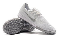 Футбольные сороконожки Nike Zoom Phantom VNM Pro TF White/Chrome/Metallic, фото 1