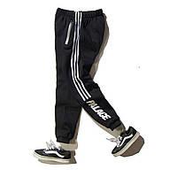 Теплые спортивные штаны Adidas x Palace черные