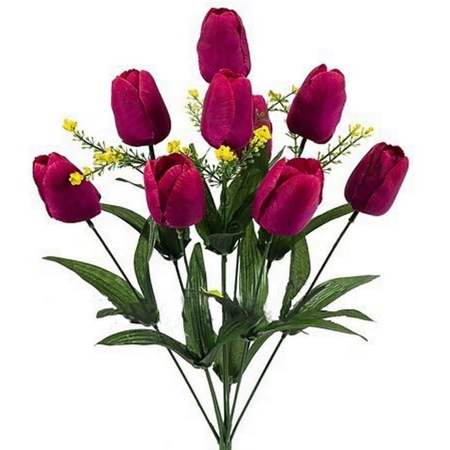 Букет тюльпанов 9-ка,51см(18шт в уп.)
