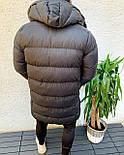 😜 Куртка - Мужскаяя куртка-пальто зима серого цвета удлиненная, фото 2