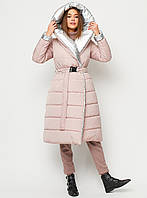 Стеганое женское пальто на запах (размеры 42-48 в расцветках)