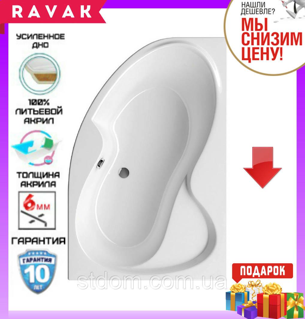 Акриловая ванна 160x105 см Ravak Rosa II CL21000000 правосторонняя