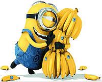 Картина по номерам Миньоны Банана без коробки, 40*50см, Brushme