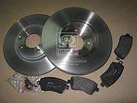 Комплект тормозной передний NISSAN MICRA 03-,NOTE 06-,RENAULT LOGAN 07-,CLIO III 05- (производство REMSA) (арт. 8987.00), AGHZX
