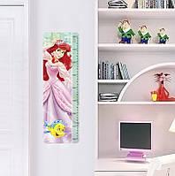 """Интерьерная наклейка в детскую, ростомер """"Принцессы"""" C035-P"""