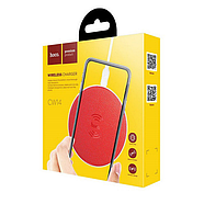БЗУ Hoco CW14 round wireless charger 2A Red, фото 2