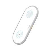 БЗУ Hoco CW20 Wisdom 2-in-1 wireless charger White, фото 2