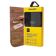 БЗУ Awei W1 Qi Wireless Charging Transmitter Aluminum Alloy Pad 1A Grey, фото 2